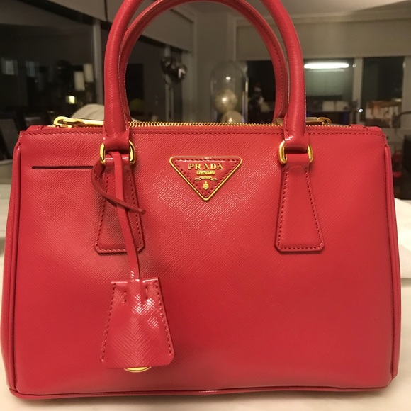 d5333491f8a1 Prada saffiano leather mini double zip - Peonia